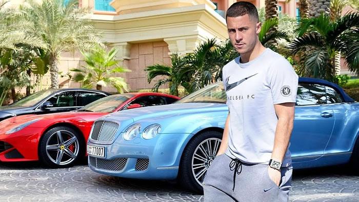 quais são os jogadores de futebol mais ricos do mundo Eden Hazard